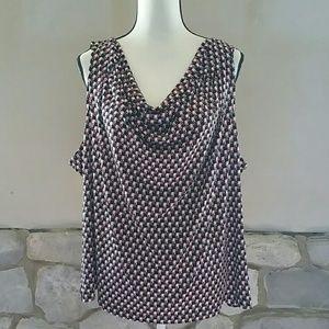 NWOT Calvin Klein drape neck sleeveless 3X